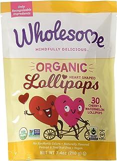 Wholesome Organic Heart Lollipops, 7.4 oz, Single Unit