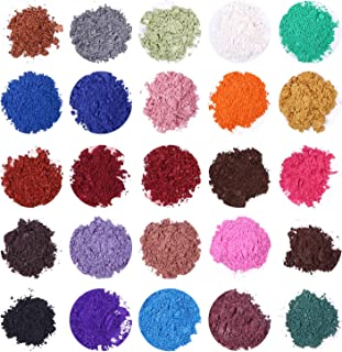 Soap Dye - Mica Powder Pigments for Bath Bomb - Soap Making Colorant - 24 Colors (0.21 oz Each) - Candle Making, Eye Shadow, Blush, Nail Art, Resin Jewelry, Artist, Craft Projects