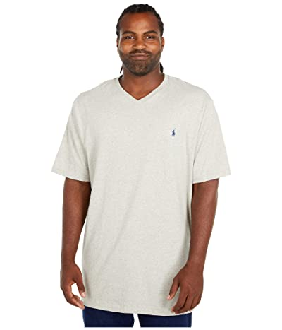 Polo Ralph Lauren Big & Tall Big and Tall Classic V-Neck T-Shirt (New Grey Heather) Men
