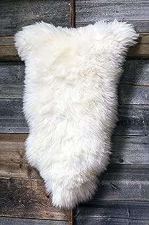 World of Leather Sheepskin Rug Fluffy White Brown Cream Rug for Bedroom Sheep Fur Genuine Animal Throw WSZ (Small, White)
