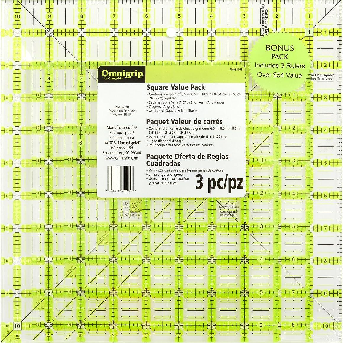 Dritz Omnigrip Square Combo Pack, 3 Sizes, 6