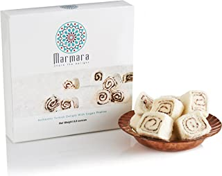 Best HOLIDAY SALE! Marmara Authentic Turkish Delight Lokum with COGAN PRALINE Sweet Confectionery Gourmet Gift Box Candy Dessert Large 8 .8 oz Review