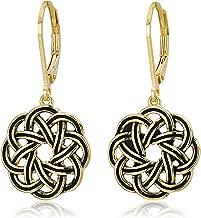Sterling Silver Celtic Knot Lever-Back Drop Earrings