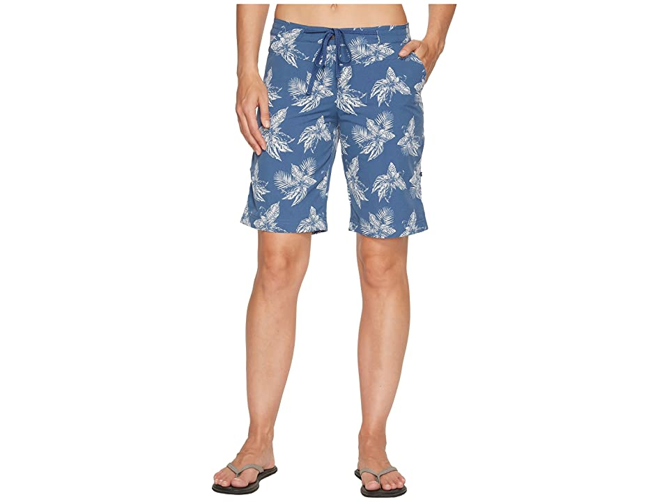 Jack Wolfskin Pomona Tropical Shorts (Ocean Wave All Over) Women