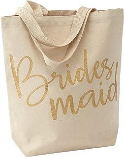 Mud Pie Wedding Canvas Tote Bag, Bridesmaid