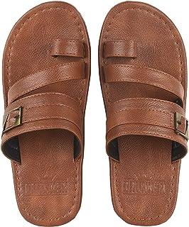 DRUNKEN Men's Slip On Ring Toe Synthetic Outdoor Sandals