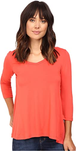 Shirred Contrast-Back Top