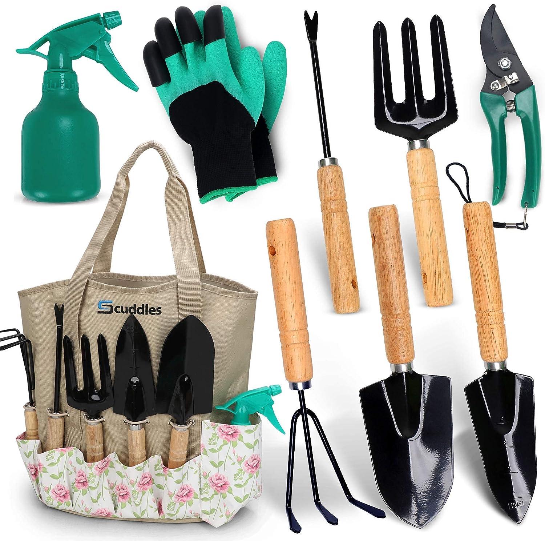 Scuddles Garden Tools Set - New sales 8 Kit Heavy Duty Max 63% OFF Gardening Piece wit