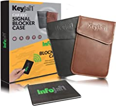 Keyjail️ 2X Car Key Signal Blocking Faraday Pouches with RFID Blocking Card for Wallet/Purse/Passport/Fraud Protection