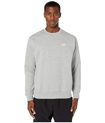 Nike NSW Club Crew (Dark Grey Heather/White) Men