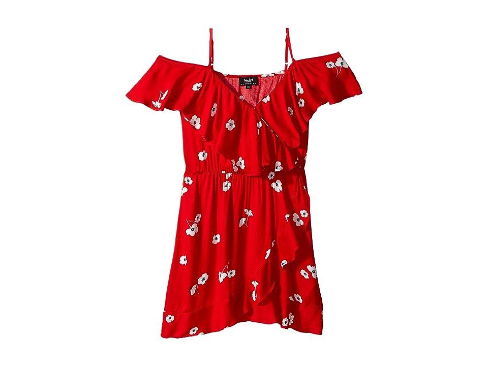 Bardot Junior Becks Ruffle Dress (Big Kids) (Lava) Girl