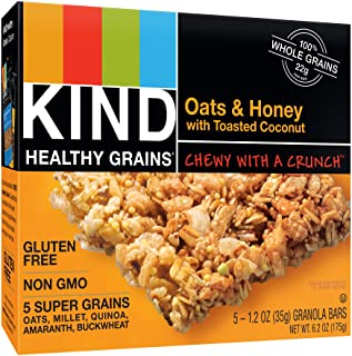 KIND Healthy Grains Bars, Oats & Honey with Toasted Coconut, Non GMO, Gluten Free, 1.2oz, 5 Count (Pack of 3)