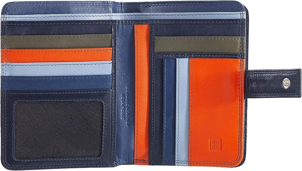 Dudu, portafoglio, porta carte di credito per donna, con protezione rfid, multicolore,  in pelle morbida 8031847173703