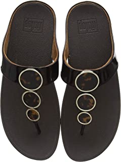a23bf87a286 Fitflop Halo Toe Post-Tortoiseshell, Sandalias de Punta Descubierta para  Mujer