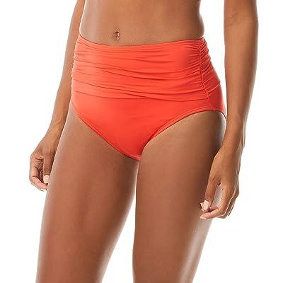 Carmen Marc Valvo Sunlit Seas Ruched Bikini Bottoms