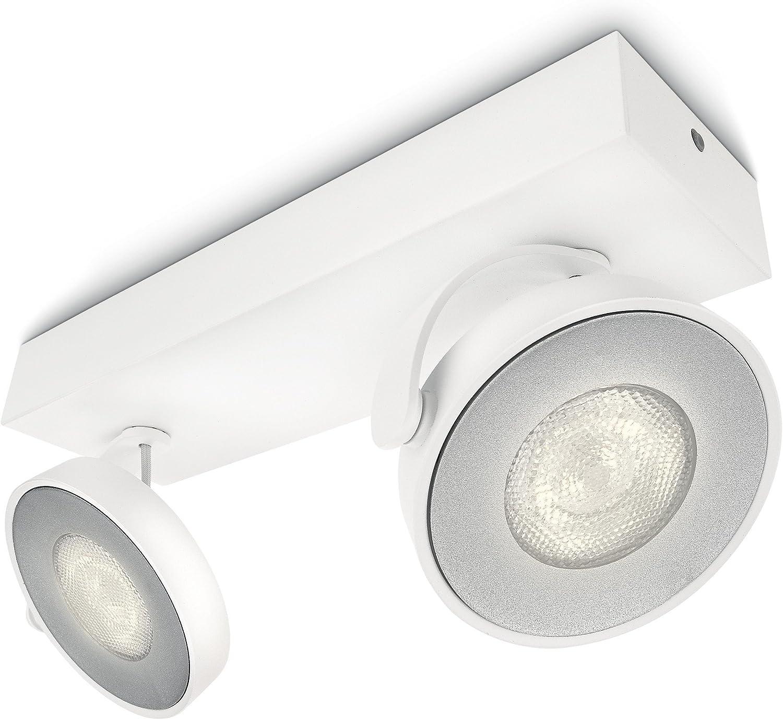 Philips myLiving Spot Clockwork Warmglow Dimm-Effekt 2-flammig, wei