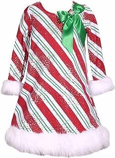 Bonnie Jean Girls Stunning Red Christmas Stripe Shift Dress -Christmas Dress