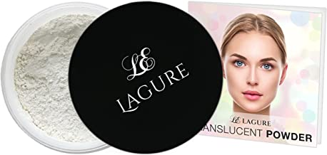 Lagure Translucent Powder - Best Loose Setting Powder Foundation and Highlighting Face Powder with Step-by-Step Guide