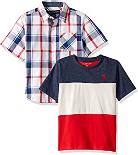 Boys' Short Sleeve Woven T-Shirt Set