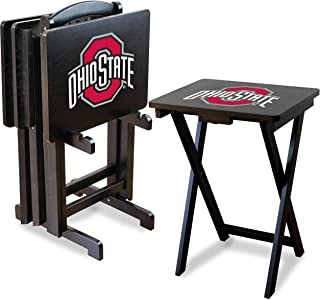 Imperial Officially Licensed NCAA Foldable Wood TV Tray Table Set with Stand