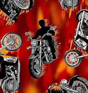 Motorcycle Allover Fleece Fabric - 60