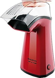comprar comparacion Taurus Pop'N'Corn Máquina para hacer palomitas, 1100 W, Plástico, Rojo