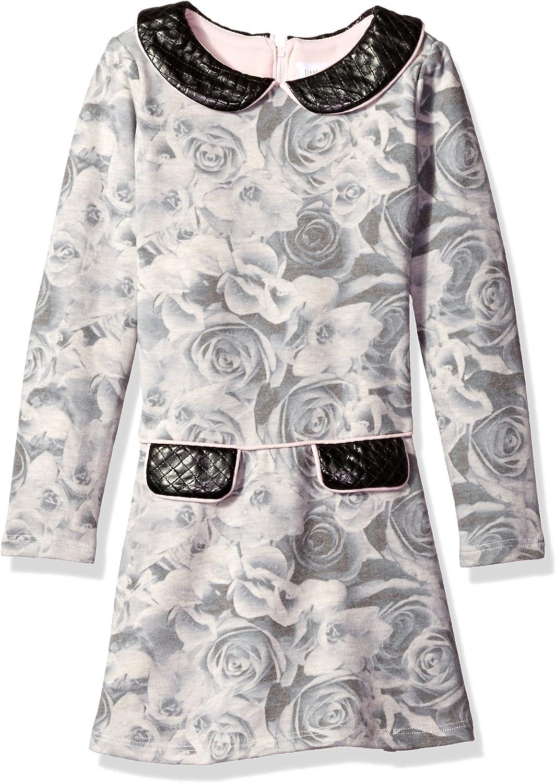Little Angels Girls' Dress L/s Peter Pan W/Drop Waist Skirt