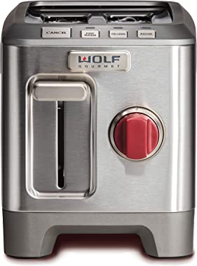 Wolf Gourmet WGTR102S Tostador para dos Rebanadas, Plata-acero inoxidable
