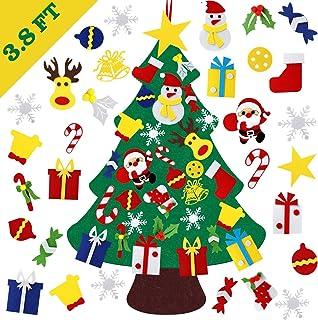 DIY Felt Christmas Tree, Reayouth Felt Christmas Tree Set, 30 Pcs Detachable Ornaments, Christmas Window Door Wall Hanging...