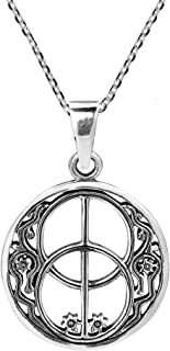 925 Sterling Silver Sacred Chalice Well Spiritual Gateway Necklace