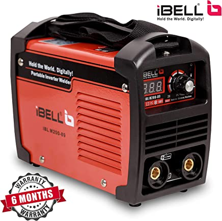 iBELL 200-89 Inverter ARC Compact Welding Machine (IGBT) 200A with Hot Start and Anti-Stick Functions - 6 Months Warranty