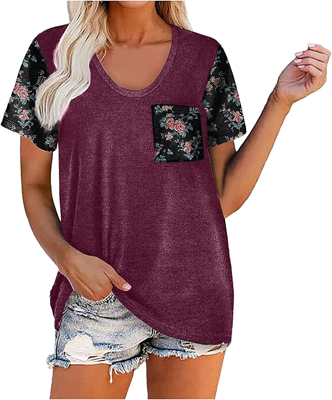 Ranking TOP12 Womens Summer Tops Short Sleeve San Antonio Mall O-Neck Women T-Shirt Prin