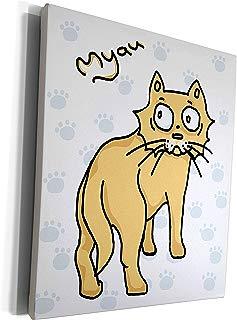 3dRose Warya - Animals. - Ginger Cat Say Meou - Museum Grade Canvas Wrap (cw_299938_1)