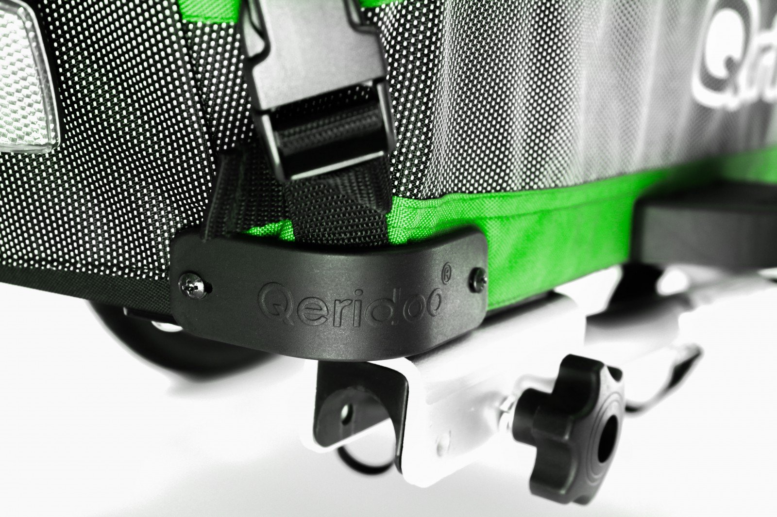 Jumbo-1 verde de bicicleta para niños remolque de aluminio qeridoo ...