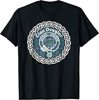 Douglas surname Scottish clan tartan crest badge t-shirt