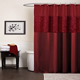 wine colored shower curtain