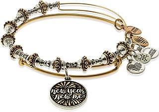 Alex and Ani Year Me Set of 2 Bangle Bracelet Shiny Rose NWTBC
