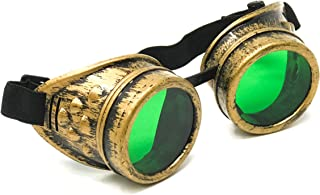 Steampunk Victorian Goggles Rave Glasses in Vintage Gold, Costume Accessory