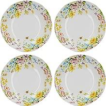 Katie Alice English Garden Porcelain Pasta Bowls with Decorative Floral Print, 20.5 cm (8