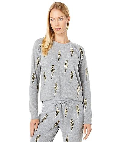Chaser Animal Bolts Long Sleeve Raglan Pullover