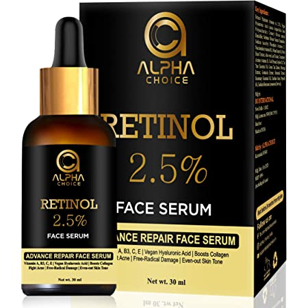 ALPHA CHOICE Retinol face serum with Vitamin-A,B3,C,E and Hyaluronic Acid For women and mem- 30 ml