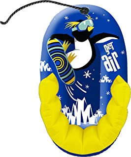 """Pipeline Sno Aqua Leisure Air Penguin Snow-Pal Inflatable Kids Snow Tube with High Back Seat, 33"""" Inches Long"""