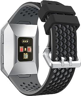 Syxinn Fitbit Ionicバンド対応 シリコン製 ファスナーリング付き ソフトシリコン 調節可能なスポーツストラップ 交換用リストバンド イオン腕時計用