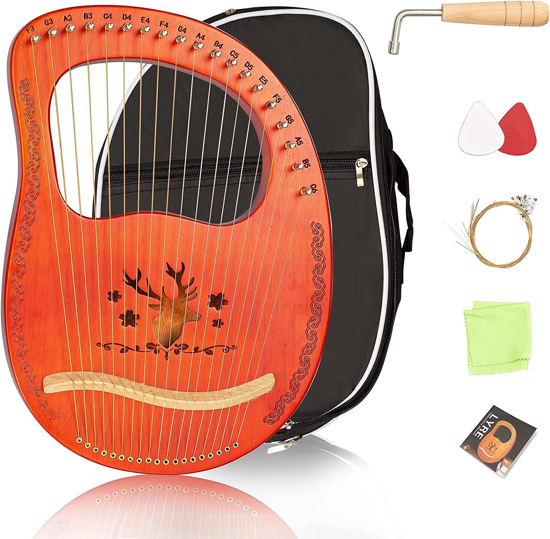 Cuecutie Lyre Max 55% OFF Harp 19 Ranking TOP12 String Portable Rose Mahog Solid Wood