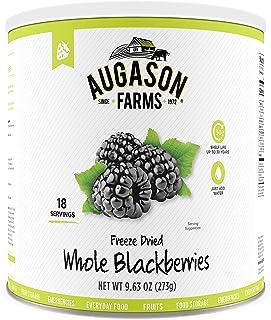 Augason Farms Freeze Dried Whole Blackberries 9.63 oz No. 10 Can