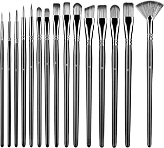 Sponsored Ad - Shiseptic Artist Paint Brushes Set of 15 Different Size Anti-Shedding Art Brushes Kits for Beginners and Pr...