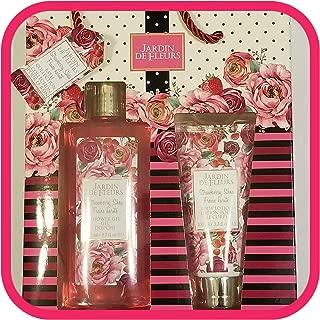 Jardin de Fleurs Strawberry Shea Bath Collection - Shower Gel Body Wash & Body Lotion Cream