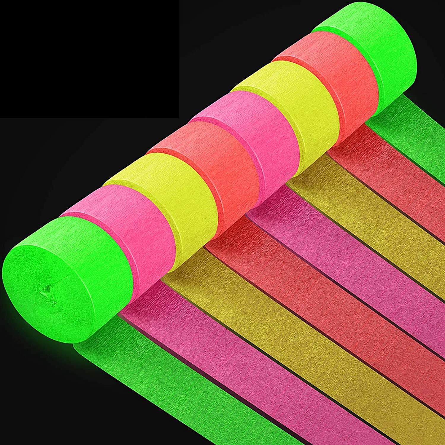 excellence 8 Rolls 1312.3 Ft Totally Streamers Crepe Paper Glow Party Max 87% OFF