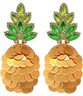Kate Spade New York - By The Pool Pineapple Statement Studs Earrings