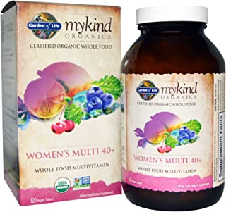 Garden of Life Kind Organics Women's 40 Plus Multivitamin, 120 Organic Tablets (Pack of 3)